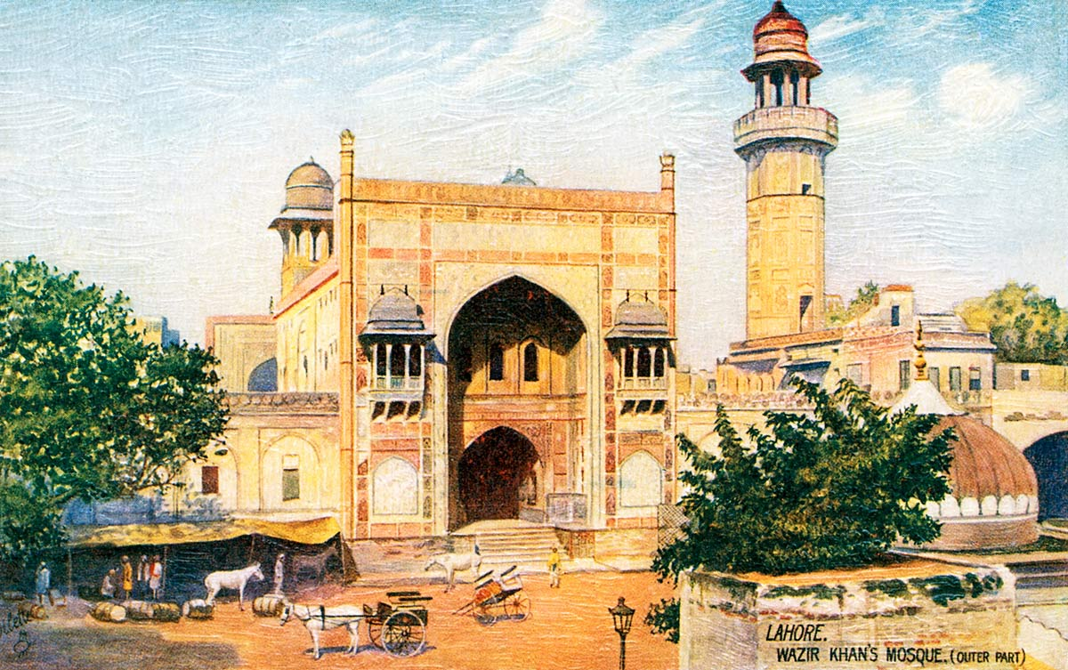 Lahore. Wazir Khan's Mosque (Outer Part)