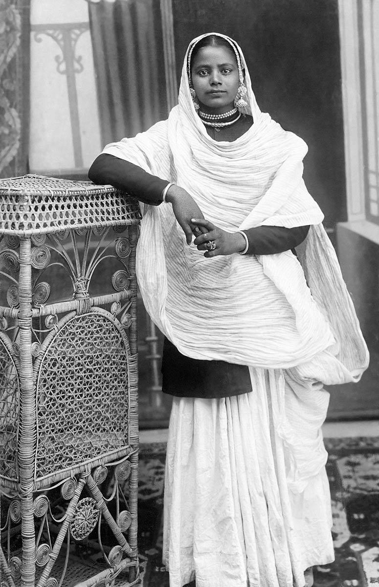 [Indian Woman in Studio]