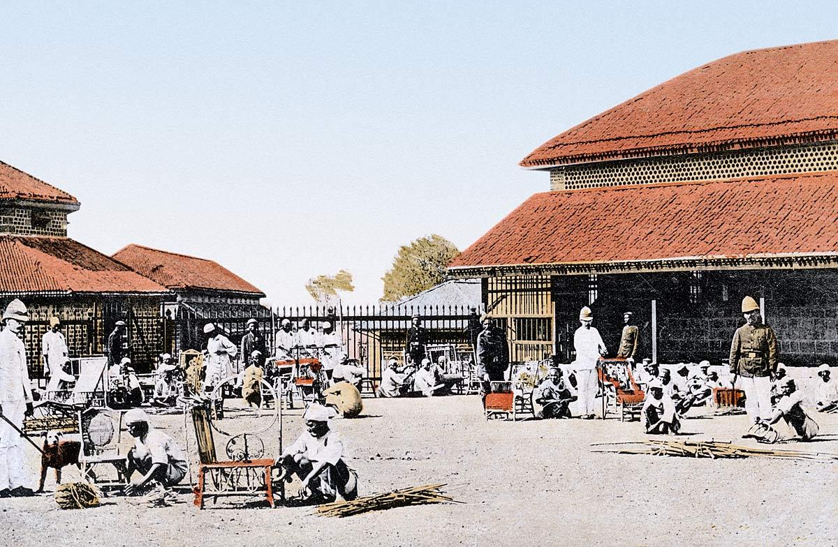Prisoners making Cane Chairs, Yarrowda Jail