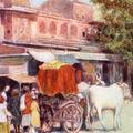 A Native Bullock Cart, Northern India