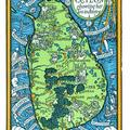 Map of Ceylon showing Her Tea Industry