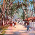 Ceylon. Road Near Colombo