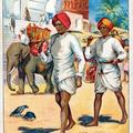 Postmen of the British Empire: Mail Carrier and Guard, Oudeypore, India