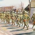 Indian soldiers starting for the front