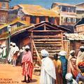 A Street Scene in Srinagar City.