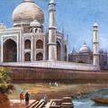 The Taj Mahal from the River, Agra