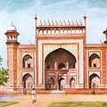 Entrance to Taj, Agra