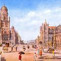 Bombay. View of Victoria Terminus & Municipal Building.