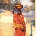 A Water Carrier, Central Provinces India.